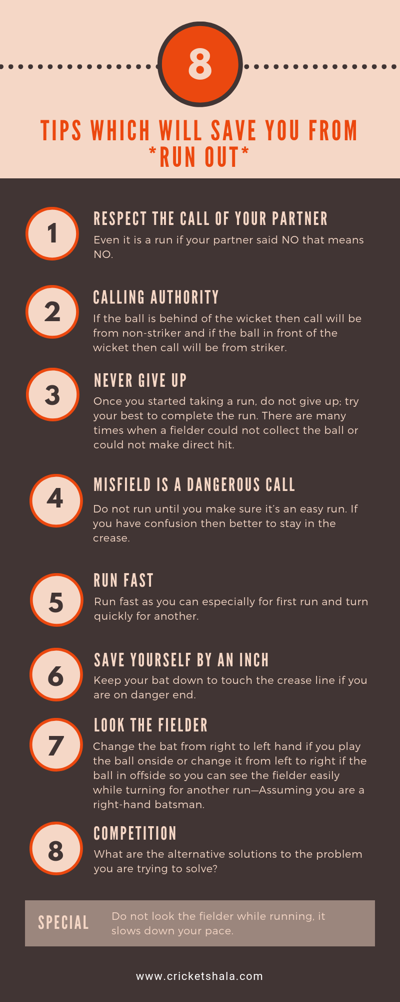 tips to escape from run out
