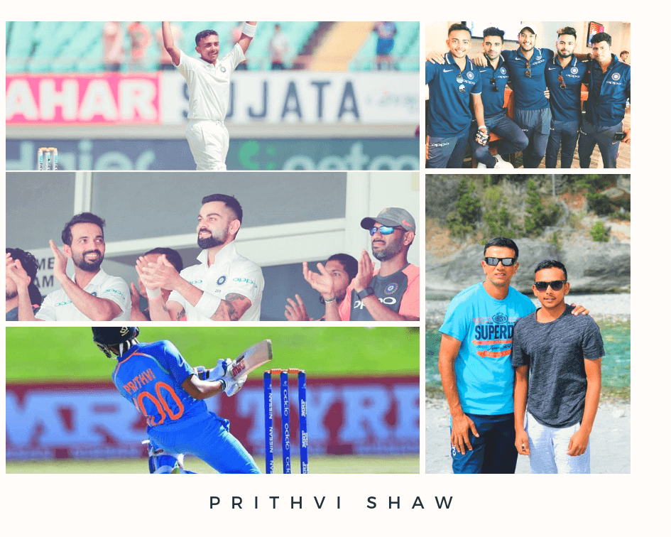 Prithvi Shaw bigoraphy collage