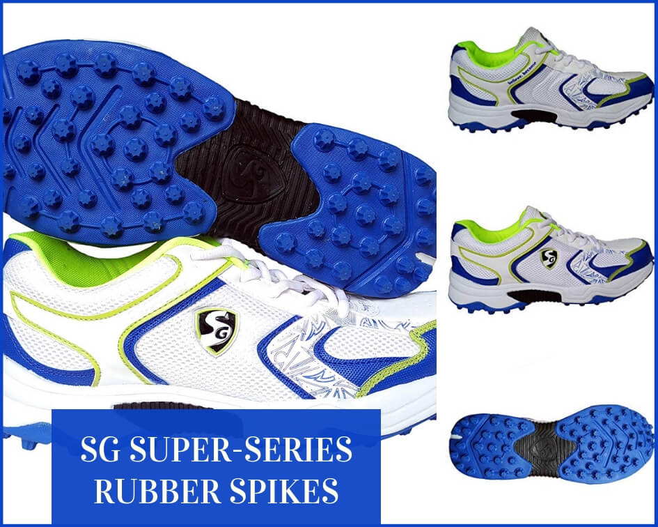 SG rubber stud cricket spikes shoes